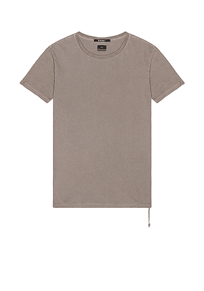 Ksubi Seeing Lines Tee in Vintage Grey - Gray. Size L (also in M, S, XL).
