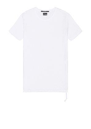 Ksubi Seeing Lines Tee in White - White. Size L (also in M, S, XL).