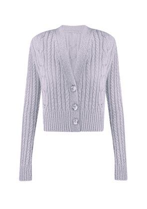 Anna October Toma Cable-Knit Wool-Blend Cardigan