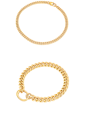 LAURA LOMBARDI for FWRD Presa and Curb Chain Anklet in Gold - Metallic. Size all.