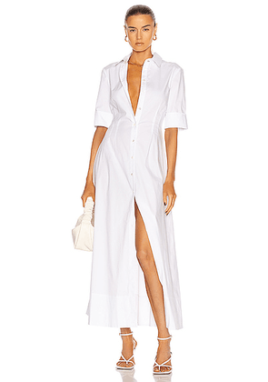 Staud Joan Maxi Dress in White - White. Size 0 (also in 2, 4, 6, 8).