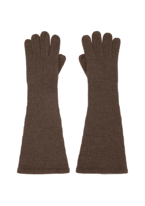 Toteme Brown Cashmere Gloves