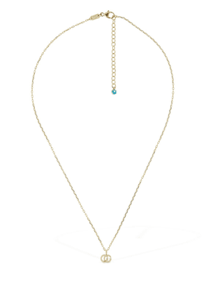 18kt Gold & Topaz Gg Running Necklace