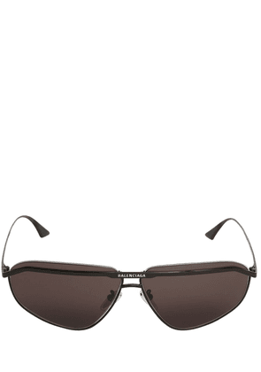 0081s Bridge Squared Metal Sunglasses