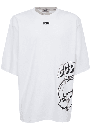 Printed Cotton Oversize T-shirt