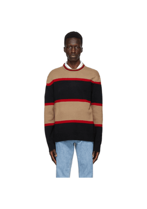 Burberry Black Wool Striped Sweater