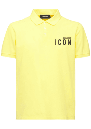 Mini Icon Print Cotton Pique Polo
