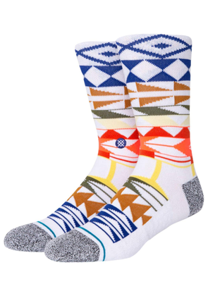 Warrior Print Combed Cotton Blend Socks