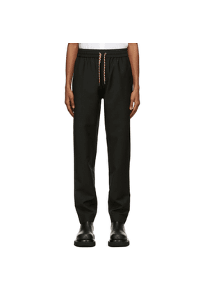 Burberry Black Mohair Tape Track Sweatpants