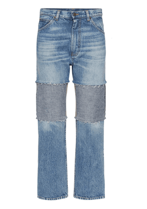 Distressed Recycled Cotton Denim Jeans