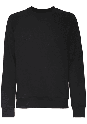 Logo Embossed Cotton Jersey Sweatshirt