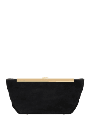 Aimee Frame Suede Clutch