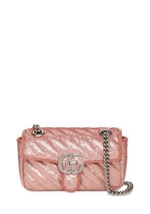 Mini Gg Marmont 2.0 Sequins Shoulder Bag