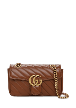 Mini Gg Marmont 2.0 Leather Shoulder Bag
