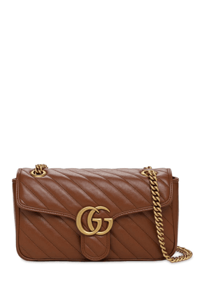 Sm Gg Marmont 2.0 Leather Shoulder Bag