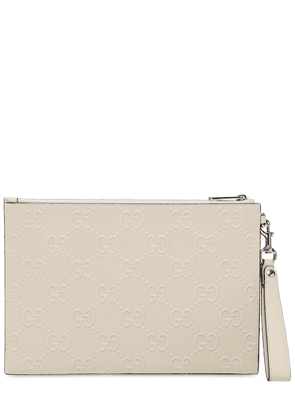 Gg Embossed Leather Crossbody Pouch
