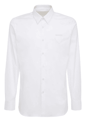 Triangle Logo Label Cotton Poplin Shirt