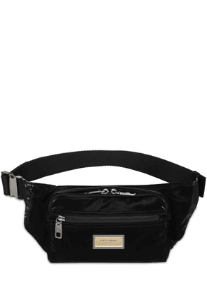 Logo Plaque Nylon Belt Bag