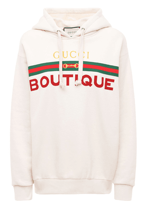 Boutique Print Cotton Jersey Hoodie