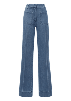 High Waisted Patch Pocket 70s Jeans
