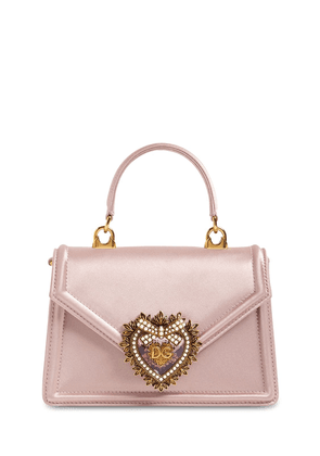 Mini Devotion Satin Top Handle Bag