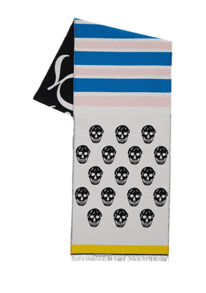 Skull & Stripes Wool Scarf