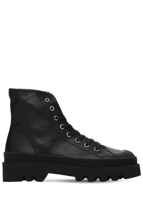 30mm Leather Combat Boots