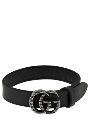Single Wrap Gg Marmont Leather Bracelet