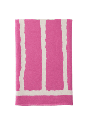 Tekla Pink and Off-White Mr. A Edition Wool Blanket