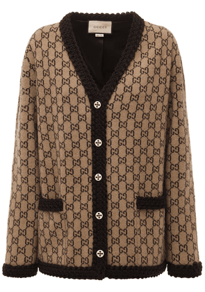 Logo Wool Knit Cardigan