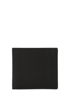 Leather & Canvas Bifold Wallet