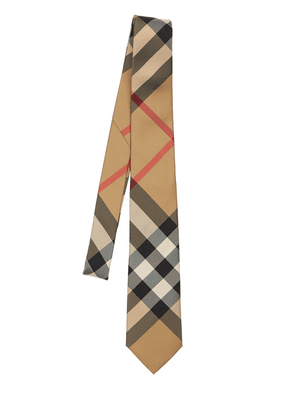 70mm Manston Macro Check Print Silk Tie