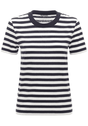 Logo Striped Cotton Jersey T-shirt