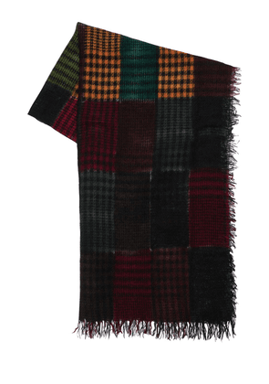 Pablo Checked Cashmere Blend Scarf