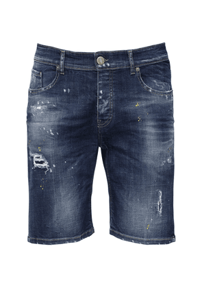 Berret Distressed Cotton Denim Shorts