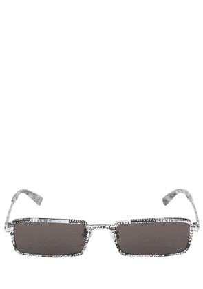 0082s Graphic Rectangle Metal Sunglasses