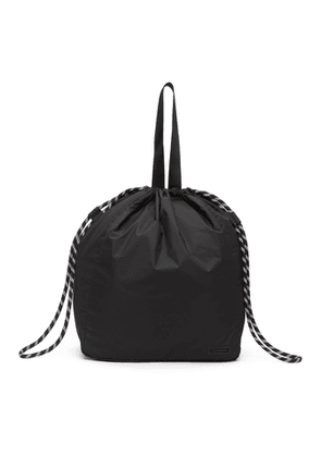 GANNI Black Recycled Tech Drawstring Tote