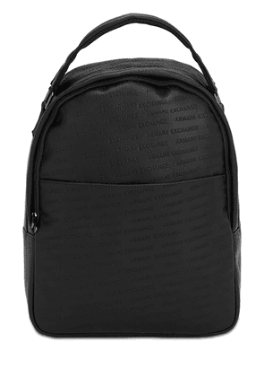 Embossed Faux Leather Backpack