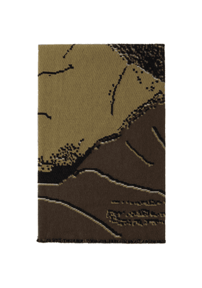 Serapis SSENSE Exclusive Brown and Gold Woman Blanket