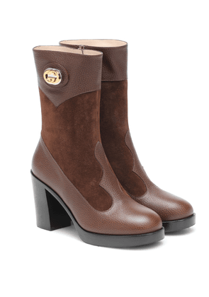 Rosie leather and suede ankle boots