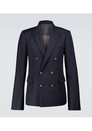 Double-breasted virgin wool blazer