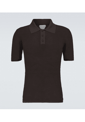 Short-sleeved mesh polo shirt