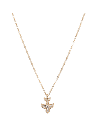 Petite Matisse 18kt gold necklace with diamonds
