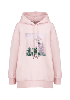 Printed cotton-jersey hoodie