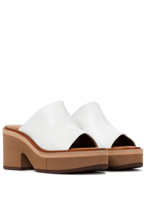 Cessy leather platform sandals