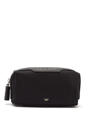Anya Hindmarch - Girlie Stuff Recycled-canvas Make-up Bag - Womens - Black