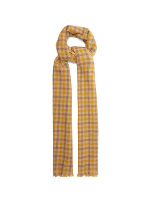 Acne Studios - Varney Small Checked Wool-blend Scarf - Womens - Beige Print
