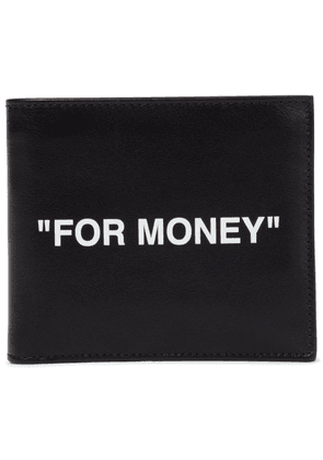 Quote leather wallet