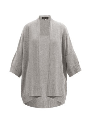Eskandar - Waterfall-collar Cashmere And Silk Cardigan - Womens - Grey
