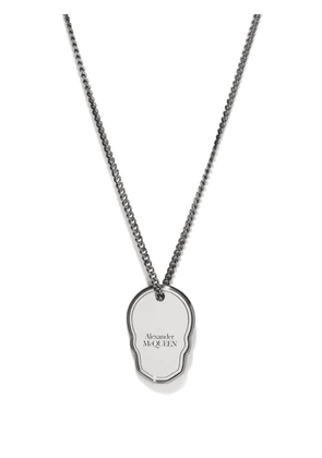 Alexander Mcqueen - Skull-charm Curb-chain Necklace - Mens - Silver